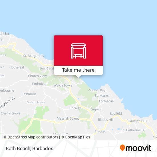 Bath Beach map