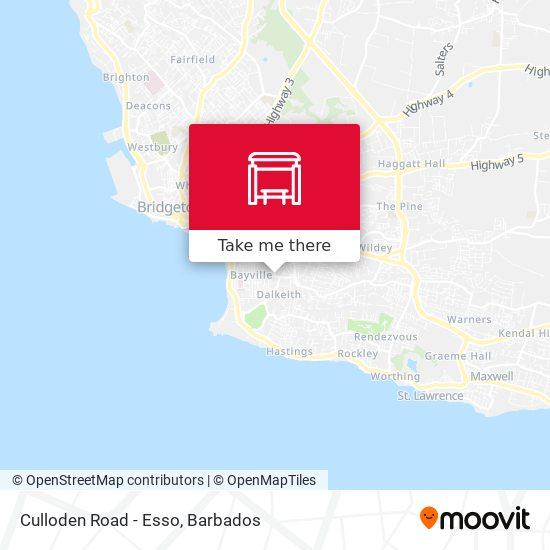 Culloden Road - Esso map