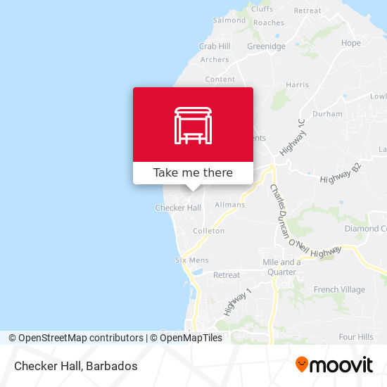 Checker Hall map