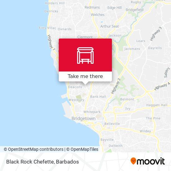 Black Rock Chefette map