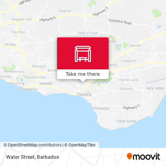 Water Street map