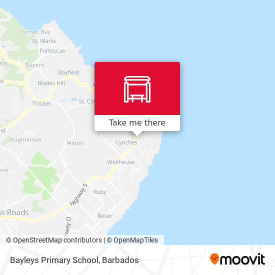 Bayleys Primary School map