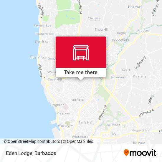Eden Lodge map