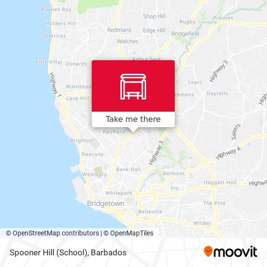 Spooner Hill (School) map