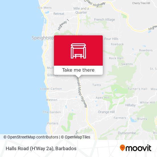 Halls Road (H'Way 2a) map
