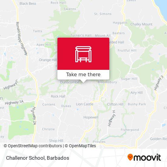 Challenor School map