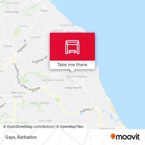Gays map