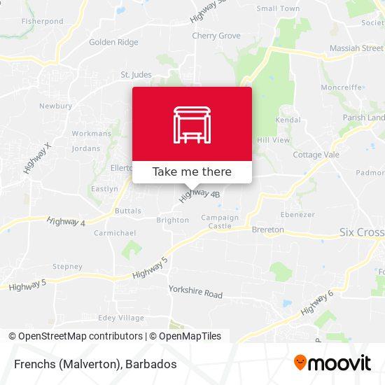 Frenchs (Malverton) map