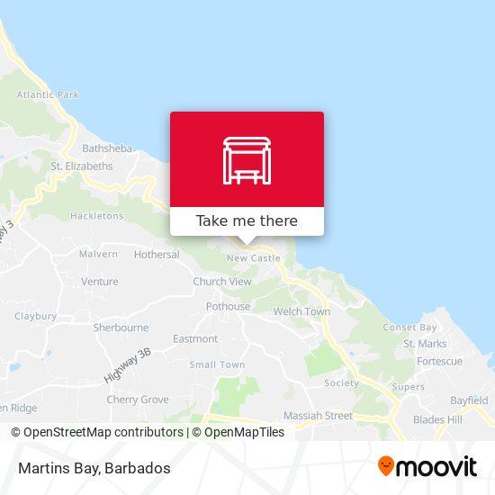 Martins Bay map