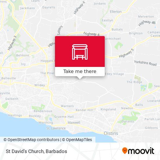 St David's Church map