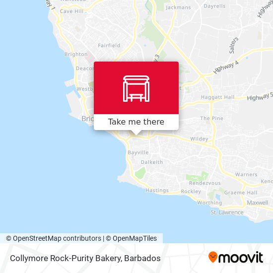 Collymore Rock-Purity Bakery map