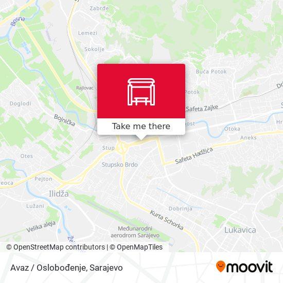 Avaz / Oslobođenje map