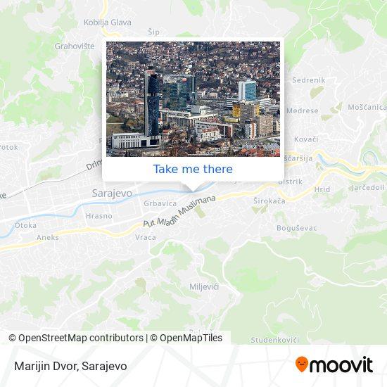 Marijin Dvor map