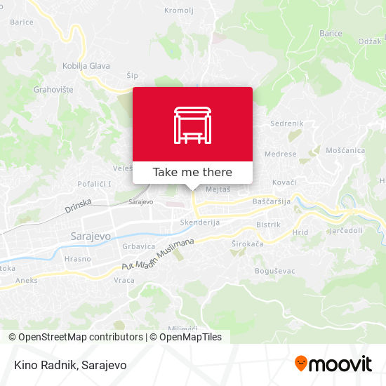Kino Radnik map