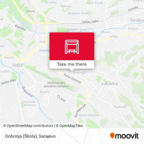 Dobrinja (Škola) map