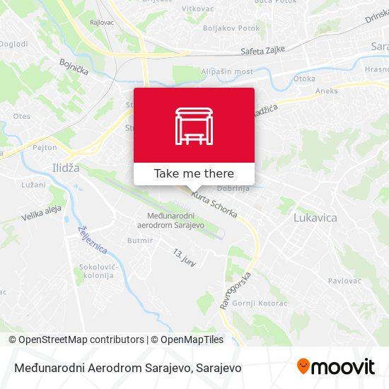 Međunarodni Aerodrom Sarajevo map