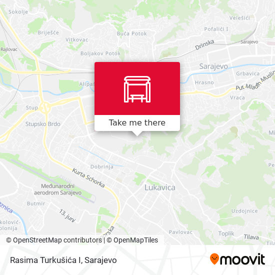 Rasima Turkušića I map