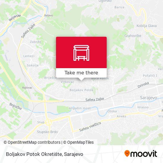 Boljakov Potok Okretište map