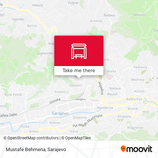 Mustafe Behmena map