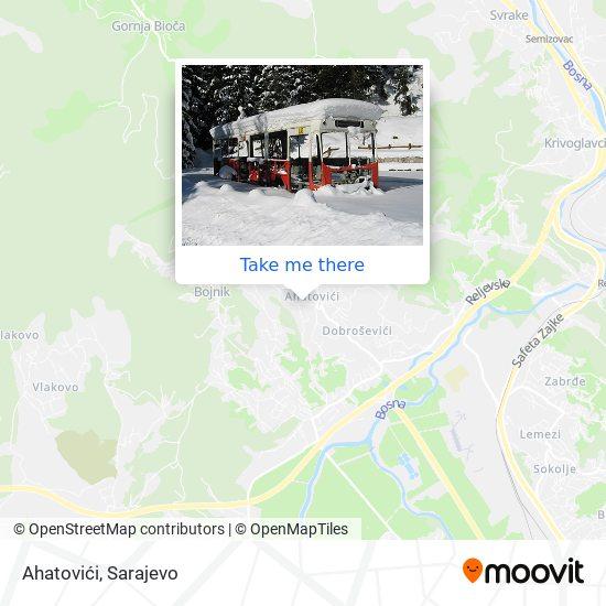 Ahatovići map