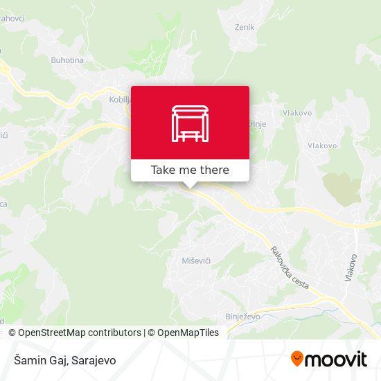 Šamin Gaj map