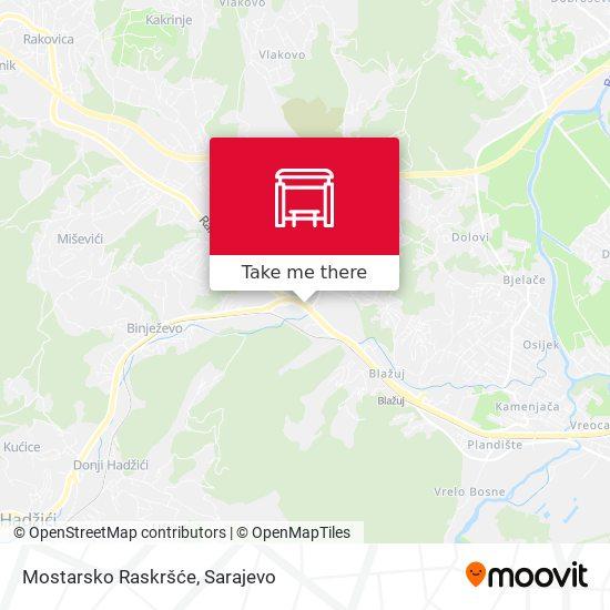 Mostarsko Raskršće map