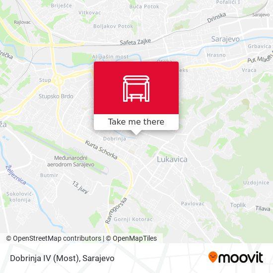 Dobrinja IV (Most) map