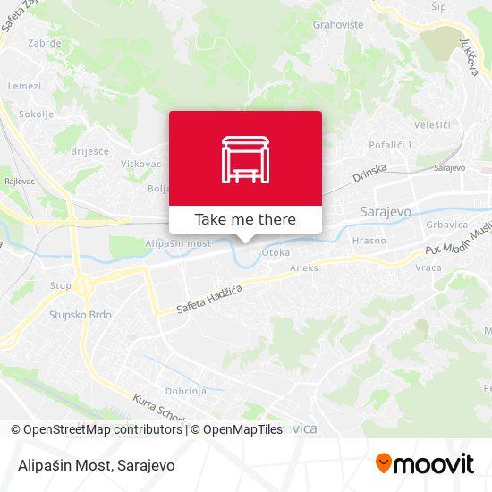 Alipašin Most map
