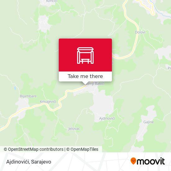 Ajdinovići map