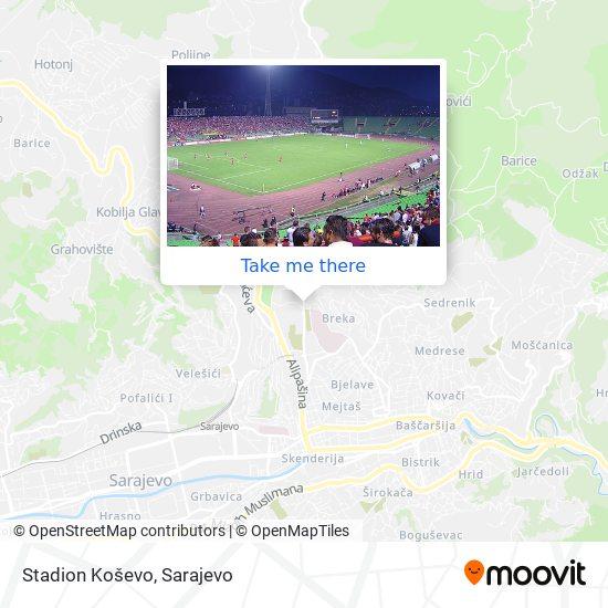 Stadion Koševo map