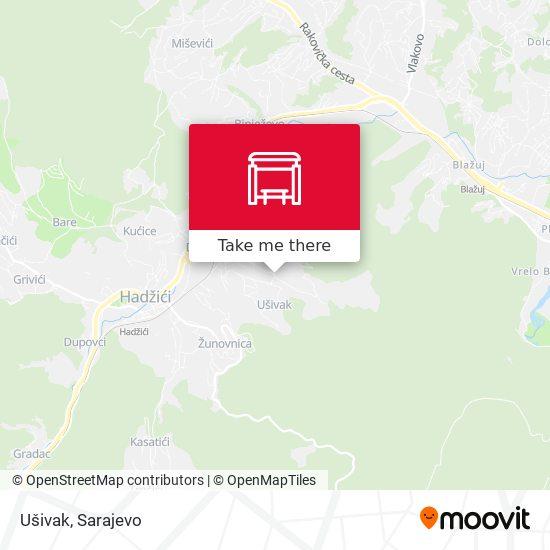 Ušivak map