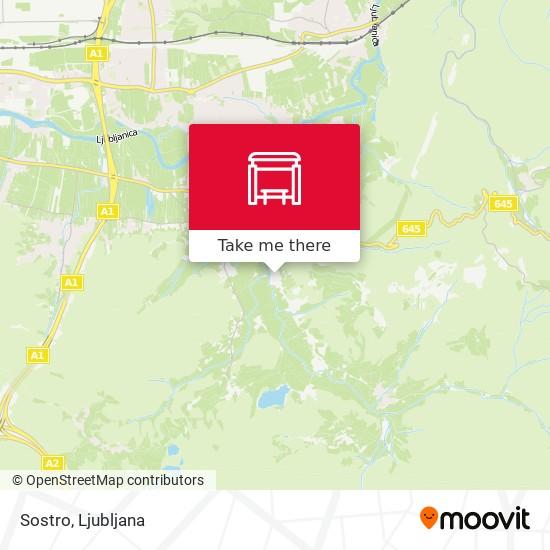 Sostro map