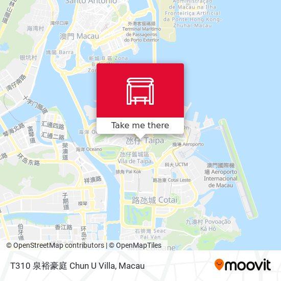 T310 泉裕豪庭 Chun U Villa map