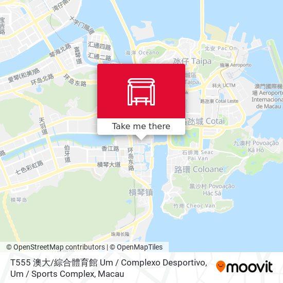 T555 澳大 / 綜合體育館 Um / Complexo Desportivo, Um / Sports Complex map