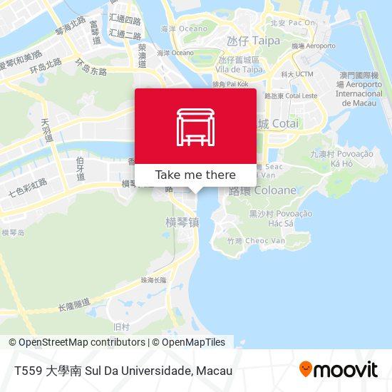 T559 大學南 Sul Da Universidade map