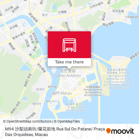 M94 沙梨頭南街 / 蘭花前地 Rua Sul Do Patane/ Praça Das Orquideas map