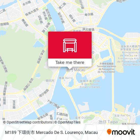 M189 下環街市 Mercado De S. Lourenço map