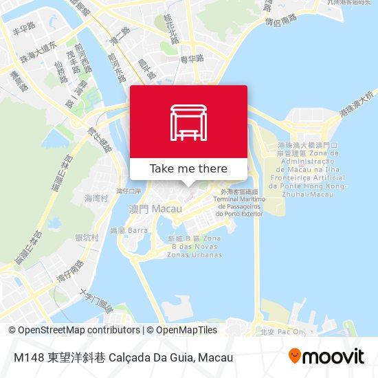 M148 東望洋斜巷 Calçada Da Guia map
