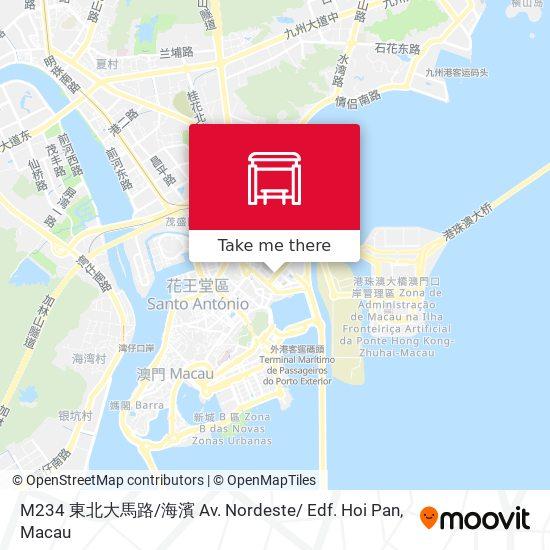 M234 東北大馬路 / 海濱 Av. Nordeste/ Edf. Hoi Pan map