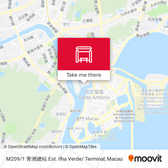 M209 / 1 青洲總站 Est. Ilha Verde/ Terminal map