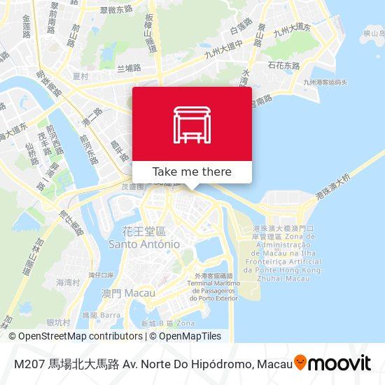 M207 馬場北大馬路 Av. Norte Do Hipódromo map