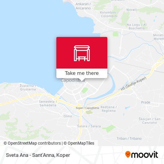 Sveta Ana - Sant'Anna map