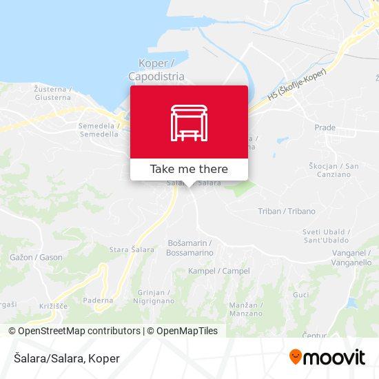 Šalara/Salara map