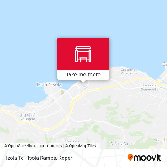 Izola Tc - Isola Rampa map