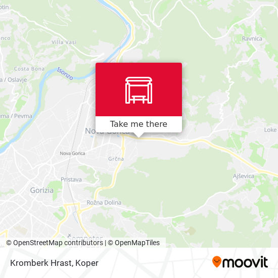 Kromberk Hrast map