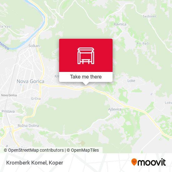 Kromberk Komel map