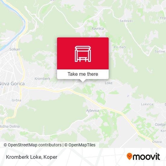 Kromberk Loke map