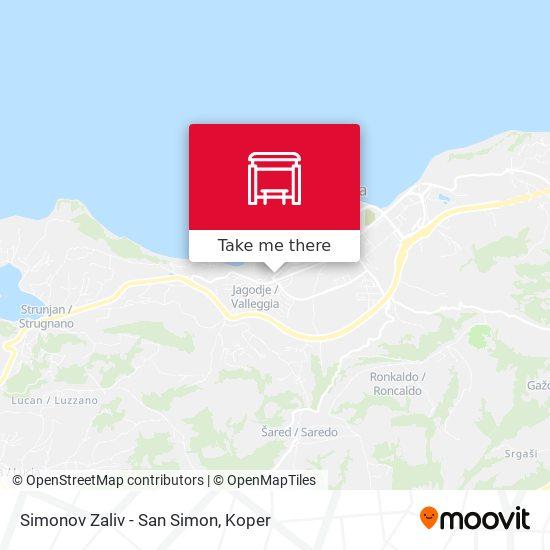 Simonov Zaliv - San Simon map