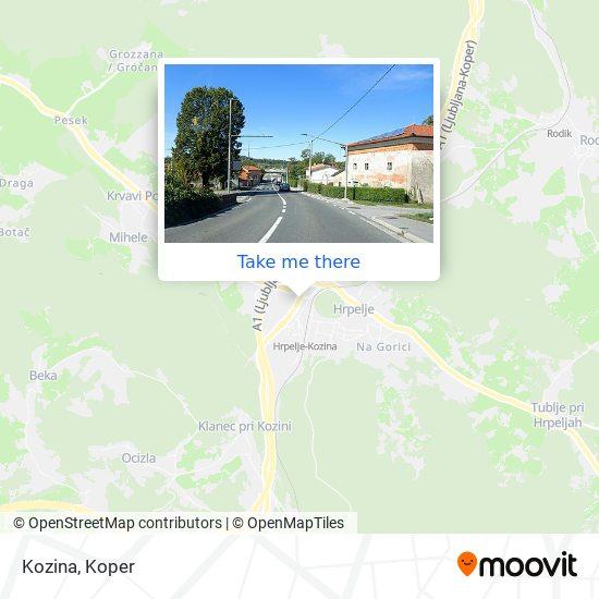 Kozina map