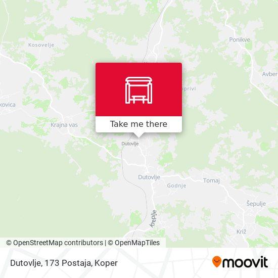 Dutovlje, 173  Postaja map